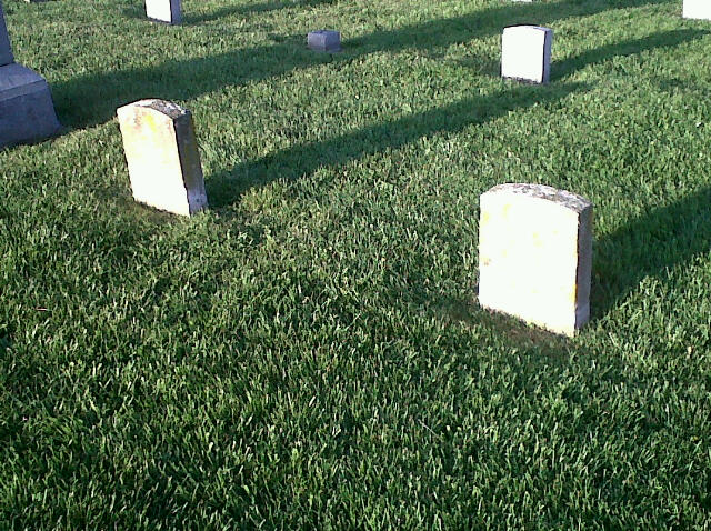 The Forsythe brothers are buried side by side.