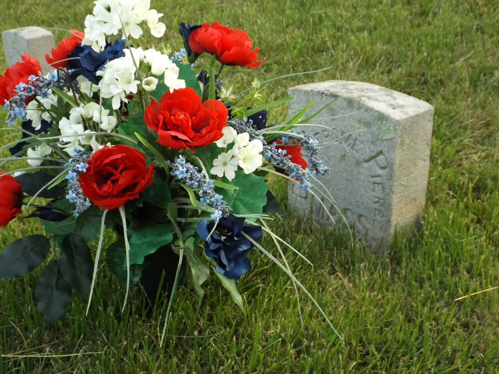 The Pierce grave decorated for Memorial Day.