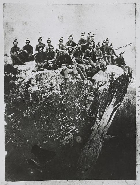 Soldiers of the 7th Illinois on Lookout Mountain