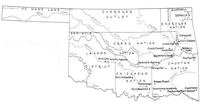 Should Indian Territory Be Considered A Border State Civil - Us indian territory 1800s map