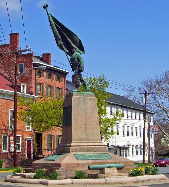 "Monument in Goshen, NY to the 124th New york, ""the Orange Blossoms"""