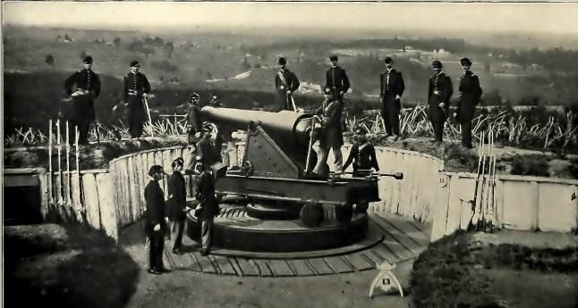 Artillerymen defending Washington