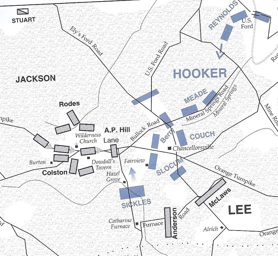 The aftermath of Jackson's attack: The XI Corps was pushed back in disarray over a mile. From the NPS Civil War Series book on Chancellorsville.