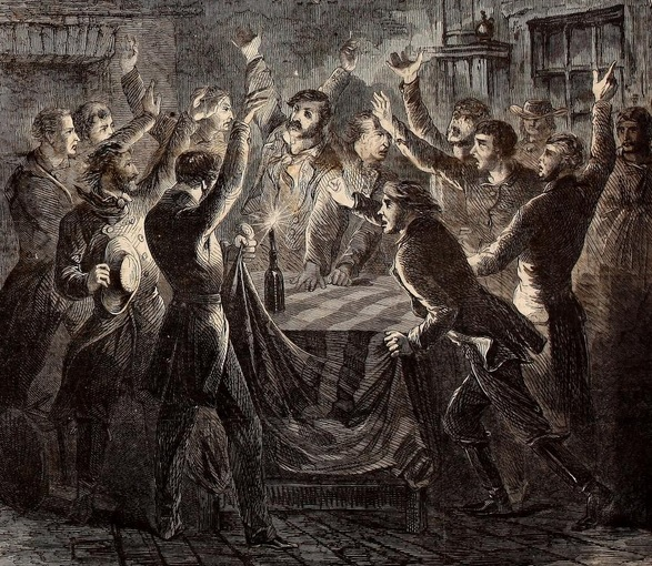 in this Harper's Weekly Illustration, Unionists in East Tennessee Swear Fealty to the Union Flag in 1862. Over 30,000 Tennesseans fought in the Union Army during the Civil War.