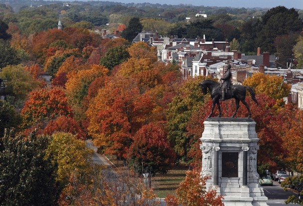 Monument Avenue in Richmond, Virginia