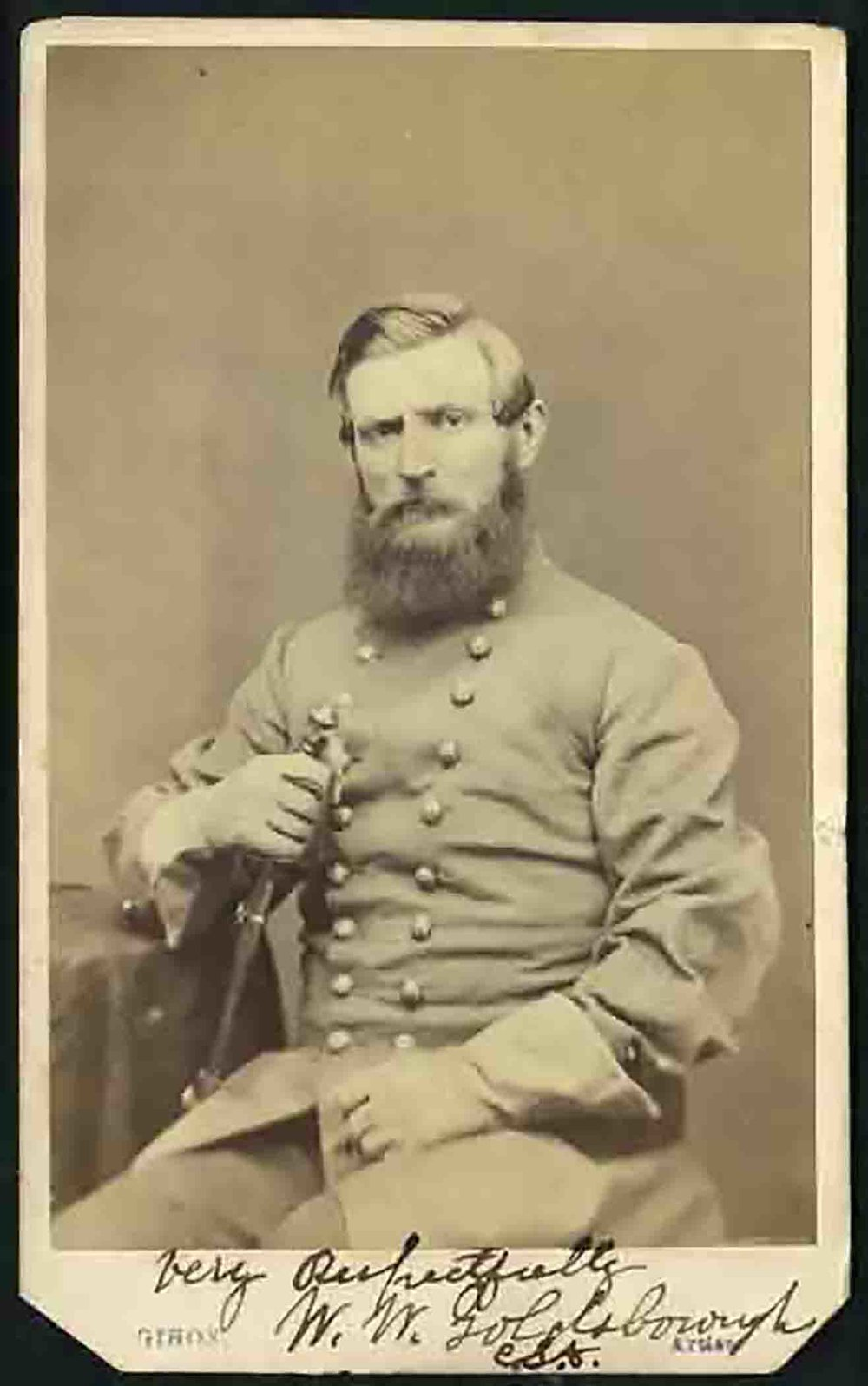 """William W. Goldsborough, author of  The Maryland Line in the Confederate Army . Courtesy of """"Company E,"""" 2nd Maryland Infantry."""