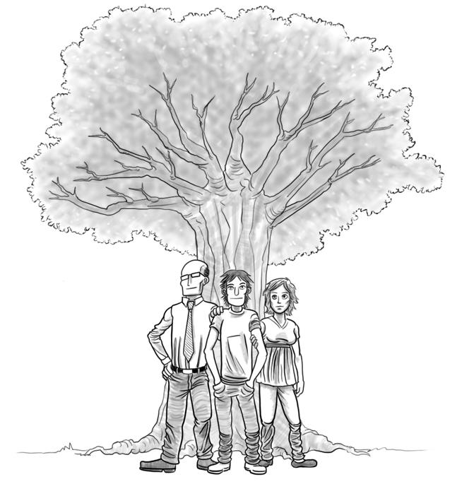 las familias son como un árbol porque tienen ramas y así