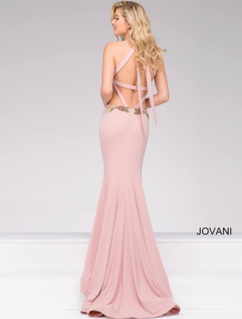 Pink Fitted Evening Dresses