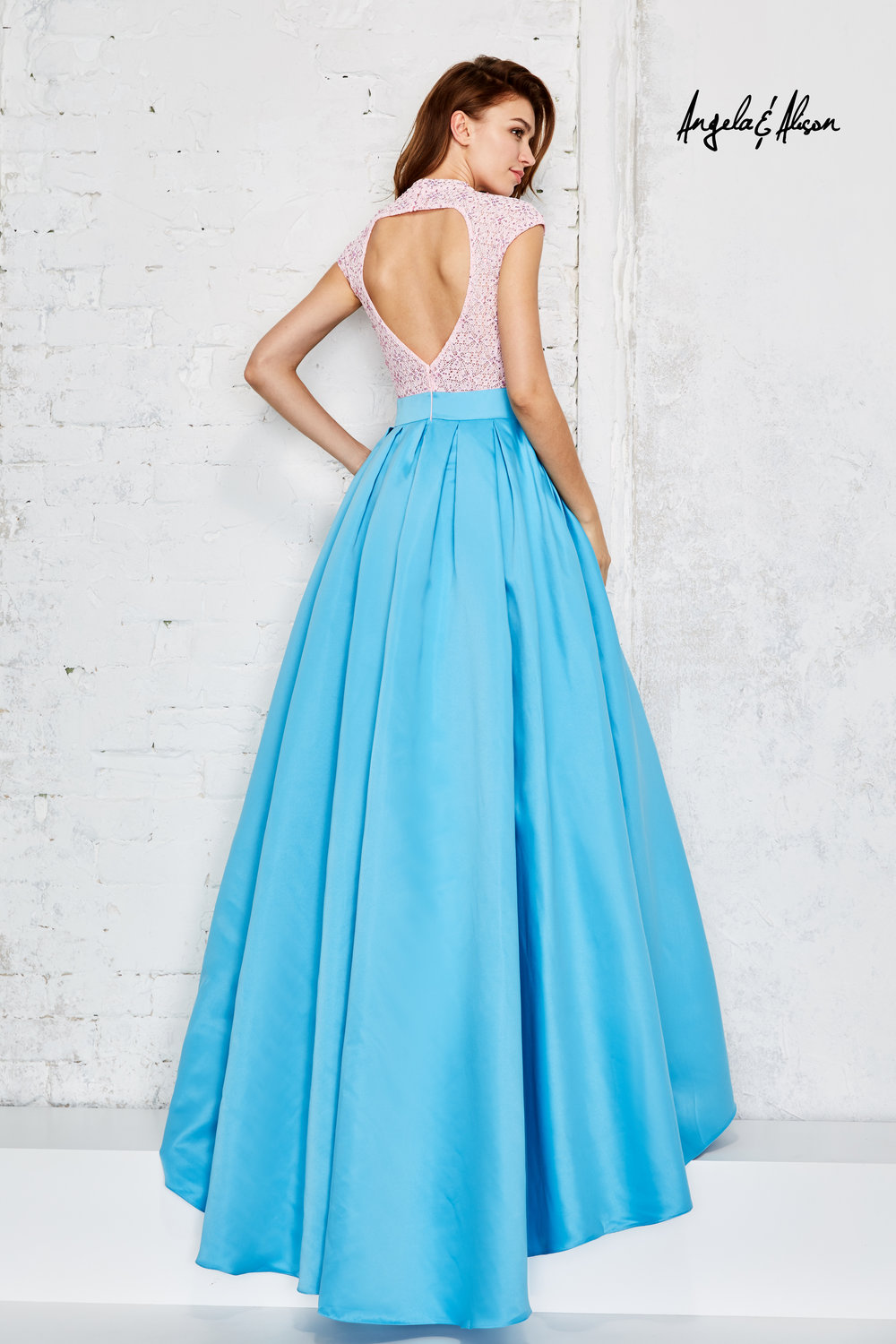 High Neck High Low Evening Gown — Forever After