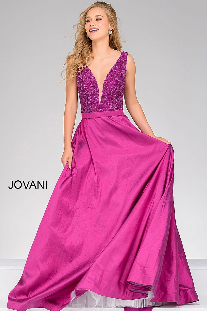 Full Figured Beaded Evening Dress — Forever After