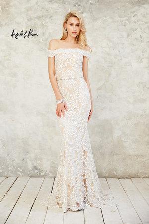 c8775c77174d Lace Off the Shoulder Evening Dress