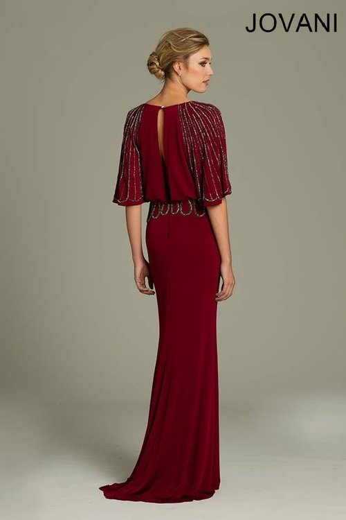 Burgundy Evening Gown — Forever After