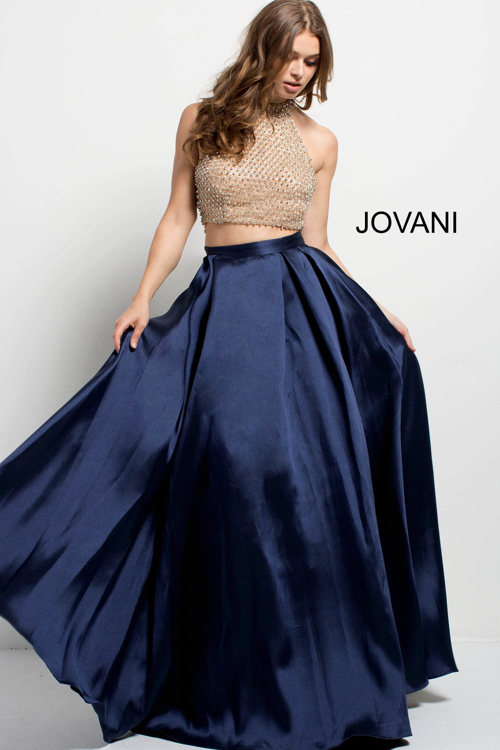 fdb140fbd6a Embellished Bodice Two Piece Evening Dress — Forever After