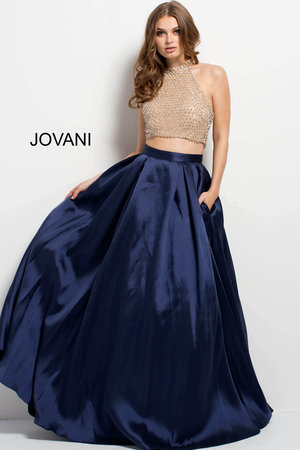 09a16ed694fc Embellished Bodice Two Piece Evening Dress