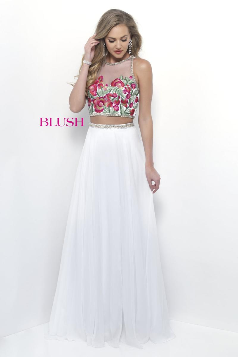 dcba3009c3d High Illusion Blush Embroidered Dress — Forever After