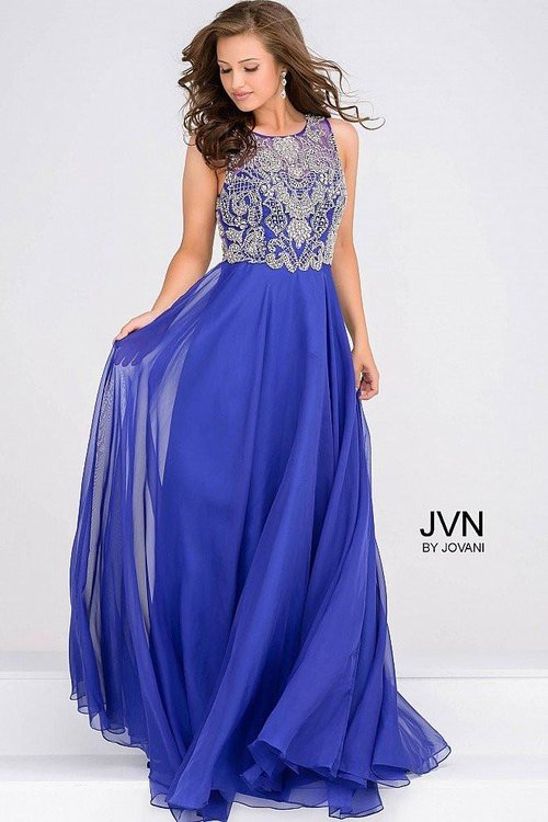 53a377ada5a Beaded Full Figured Evening Dress. 48709 Royal Front.jpg