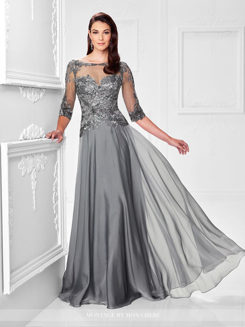 Sheer Grace Layered Evening Gown — Forever After