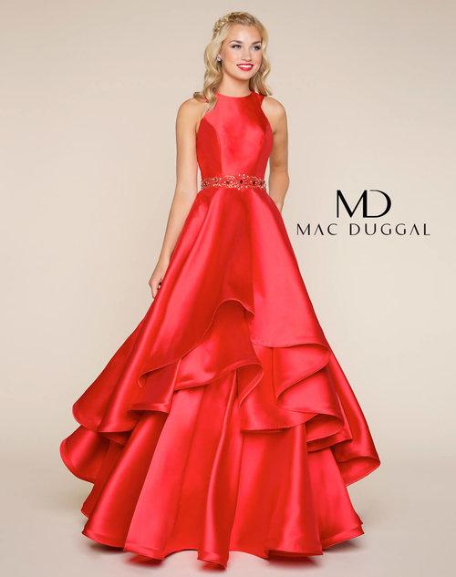 2e5badeb6e Shiny Satin Evening Dress With Beaded Belt — Forever After