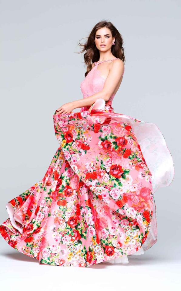 Floral Enchantress Halter Evening Gown — Forever After