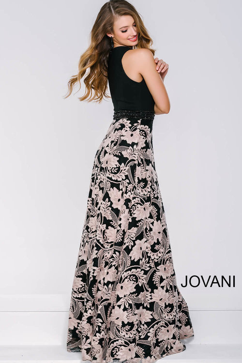 Black Print Floor Length Dress — Forever After