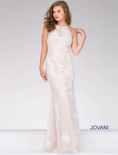 a6d393fd2cec Ivory Lace Embroidered Fitted Evening Dress — Forever After