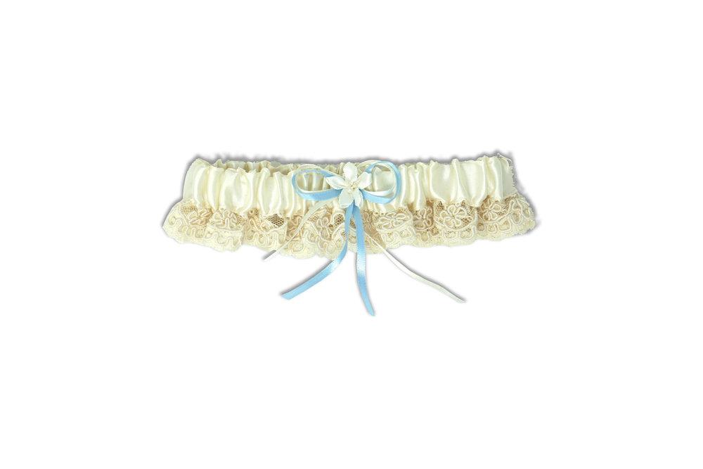 Blue Ribbon w Ivory Ribbon Garter G233I.jpg