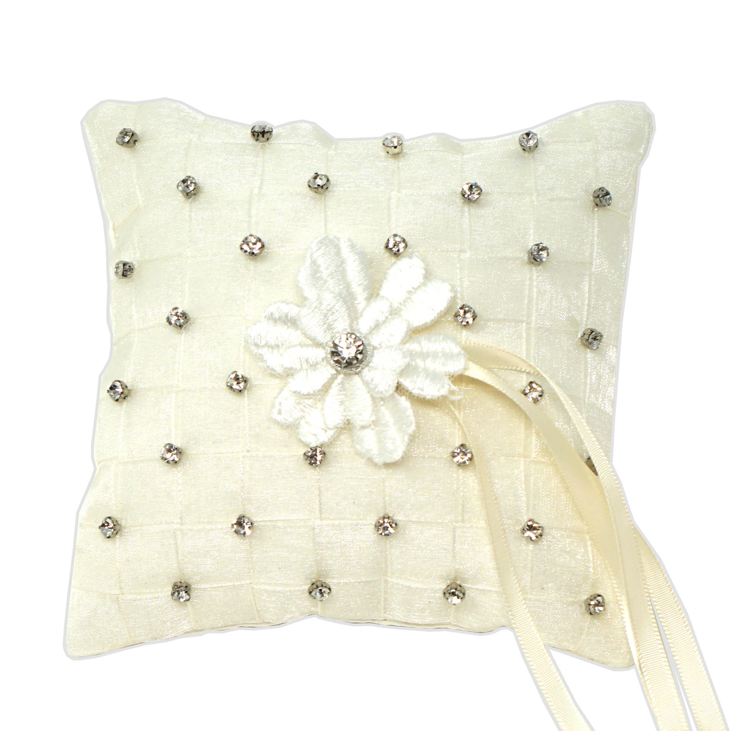 pillow bearer angela silk ivory satin organza accessories ring butterfly for wedding bow fabric holder