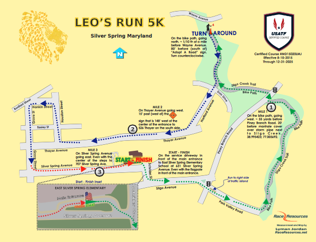Leos Run Map