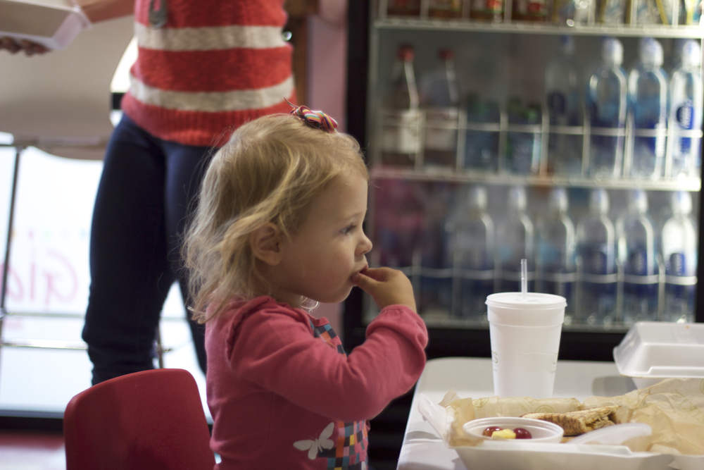 We sell a selection of healthy snacks and drinks, have tables and chairs for both adults and toddlers, with high chairs for babies and free Wi-Fi.