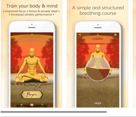 Click on Image: Pranayama App