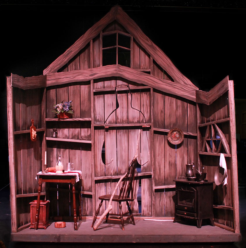 """Young Frankenstein,""""Please Send Me Someone""""  West Boca Drama Dept., Spring 2014  Director: Lance Blank  Set Designer: Sean McClelland  Scenic Artist: Brooke Frank  Charged with: Wood grain texture and base coat."""
