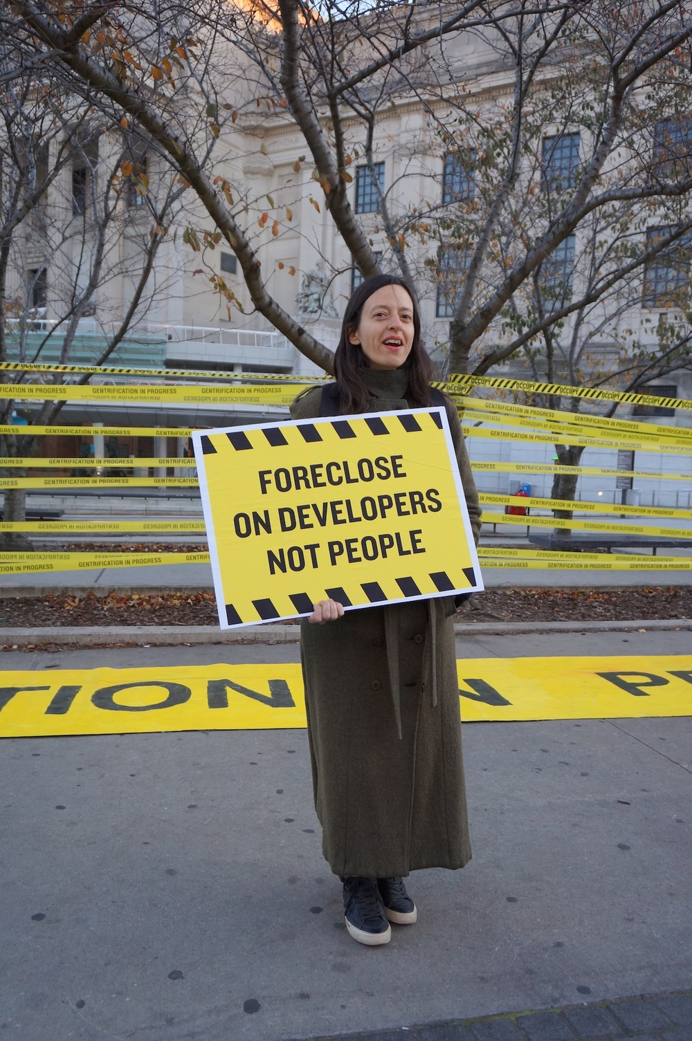 Tamara Zahaykevich of the Artist Studio Affordability Project, taken from Hyperallergic.