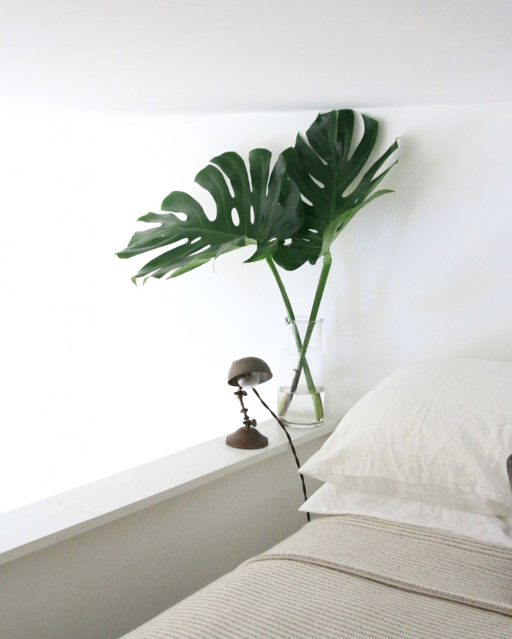Simple touches of green can create a bold impact in our lives. Make an effort to bring the mana of something green into your bedroom. - Photo credit: Gardenista.com