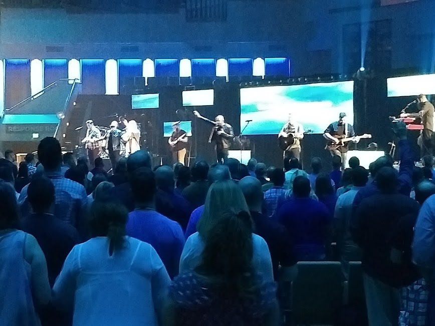The Lord blessed us with the opportunity to join in great worship and praise.