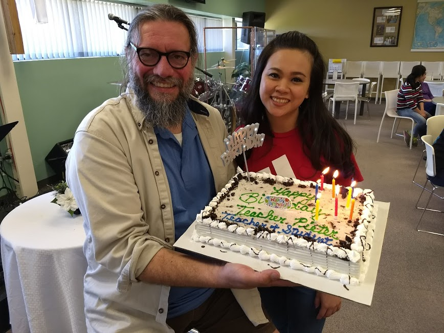 Celebrating teacher Pieter's 101st birthday in May