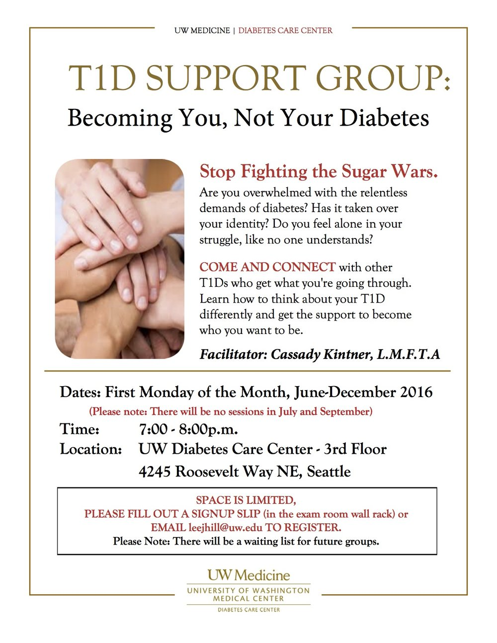 *Only for patients of UW Diabetes Care Center.