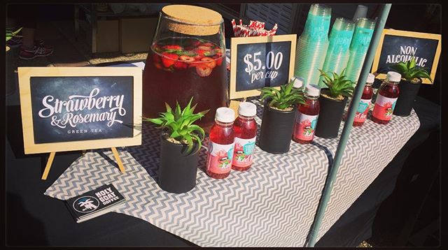 Get on down to Tastings on Hastings today & try our new Iced Tea. Strawberry & Rosemary Iced Tea from @thosegirlsaus Perfect on this warm spring morning. @tastingsonhastings #toh2016