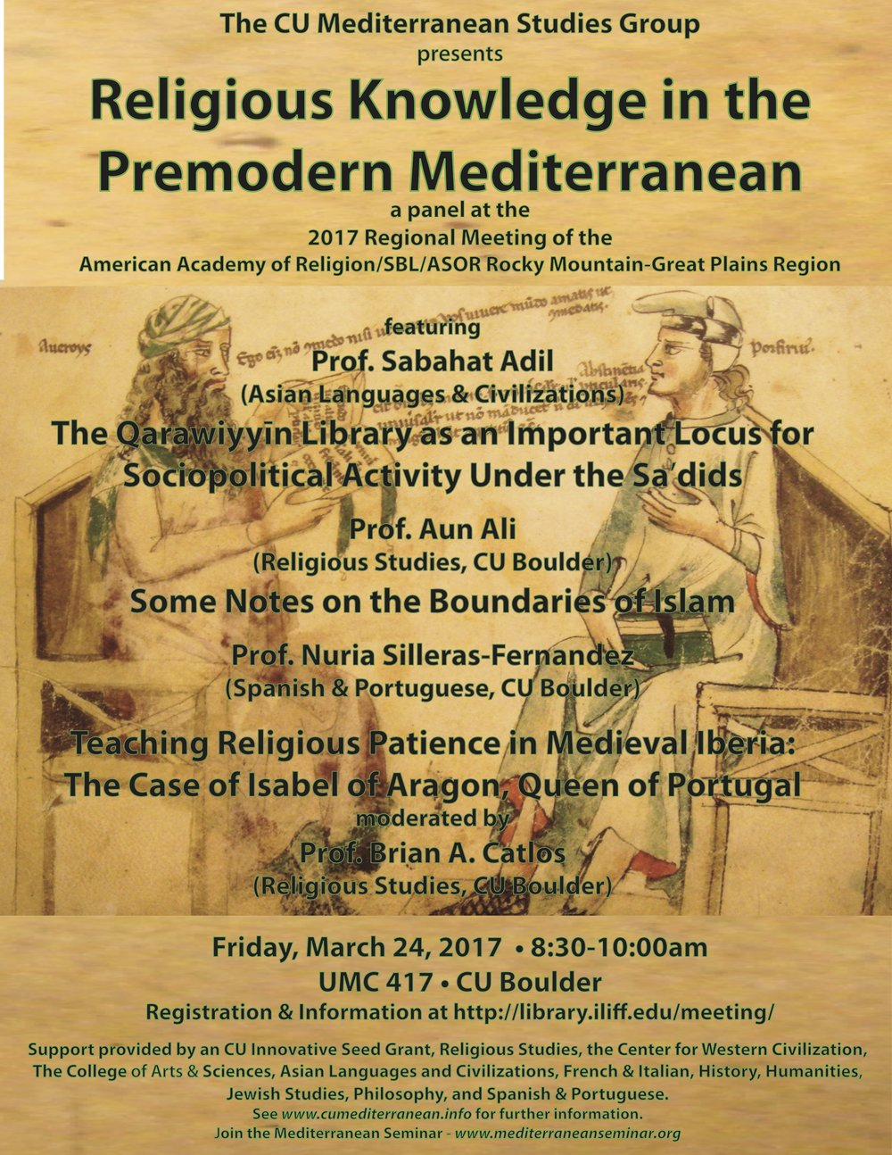 cu mediterranean studies group the mediterranean seminar 170324cumedaarreligiousknowledge jpg