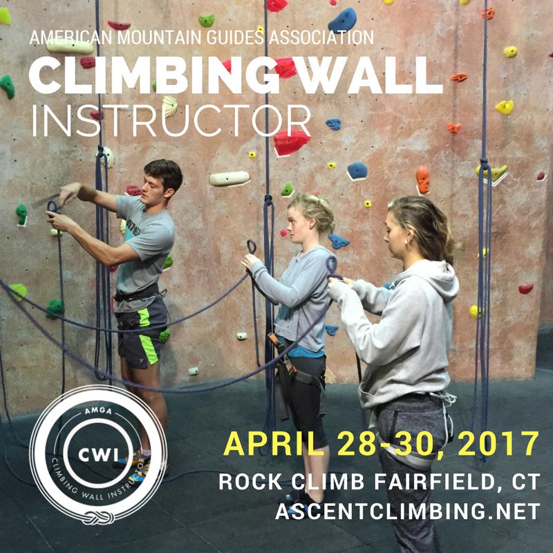 AMGA CWI Course | April 28-30, 2017