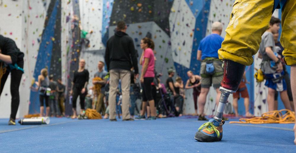 - adaptive climbing at RCF