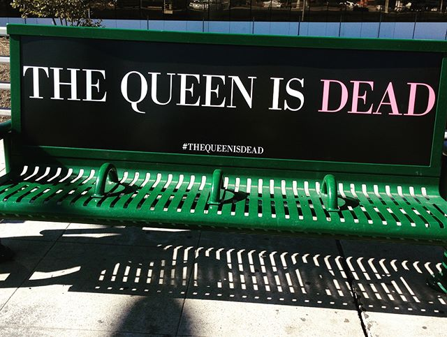 @thesmithsofficial album #thequeenisdead is 🔥 . The #creative for this campaign is so good too. One for each #song #losangeles #advertising #benches #ooh