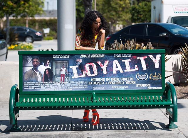 "Filmmaker & actress Christina Cooper aims to inspire younger generation with L.A.-based film ""Loyalty"" coming this May!  Check screening times 🎟🎟 @loyaltyfilm and @thechristinacooper.  #christinacooper #loyaltyfilm #losangelesfilm #ooh #gobenches #martinoutdoormedia #oaaa #billboards #advertising #la"