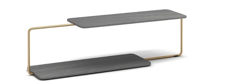 Fan Coffee Table - Metal, Gray Oak VeneerW1410* D350* H3807999 CNY