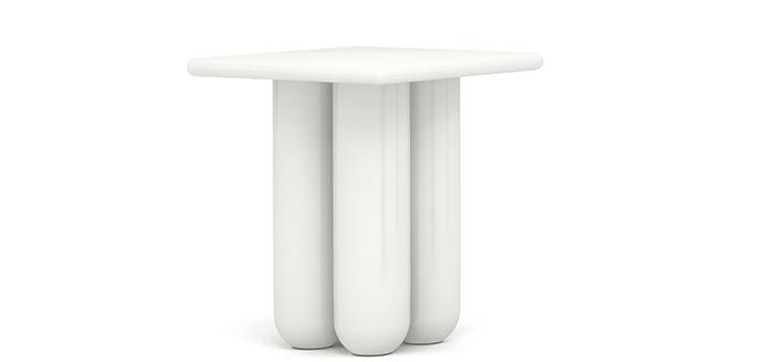 Bold Side Table - 合作款木, 白色烤漆W380 * D380 * H5003420CNY