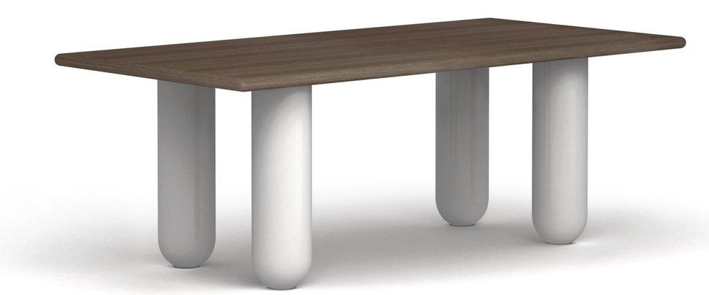 Bold Table - 合作款胡桃木饰面, 玻璃钢, 白色烤漆W2000 * D1000 * H75014910 CNY