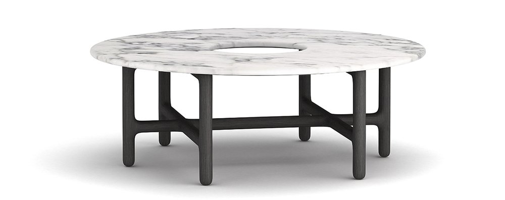 Coffee Table - 合作款木, 天然石材W1000 * D1000 * H360新品待定价