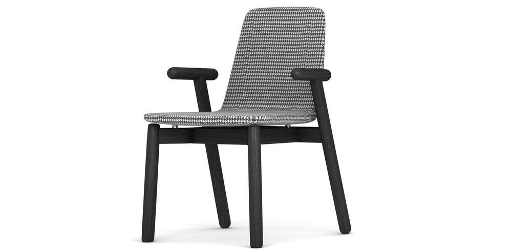 Bold Chair - 合作款木, 多款面料W596 * D545 * H830千鸟格  3690CNYA级面料 3690CNYB级面料 4490CNY