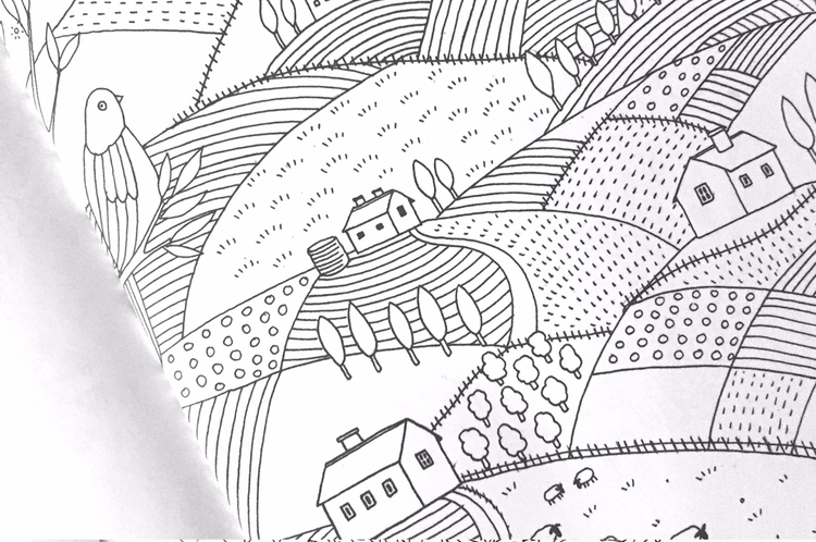 Colour in the Country (colouring in book) — Daniella Germain ...