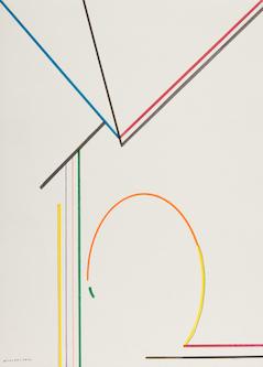 Egon karl Nicolaus, ohne Titel, 1976, Farbstift auf Papier, 62,5 x 54 cm