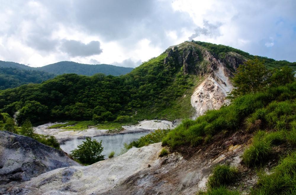 Japan: Shikotsu-Toya National Park, Noboribetsu Jigokudani, Hokkaido